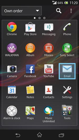 Setup Spark Email Account - Sony Xperia Z | Spark NZ