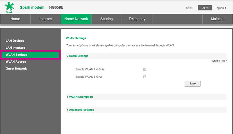 Change wifi channel huawei hg659