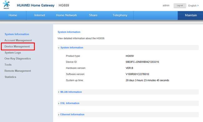 Huawei hg659 firmware iprimus