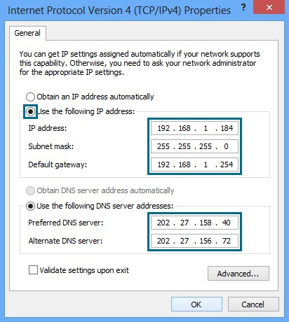 Assign a Static IP address in Windows | Spark NZ