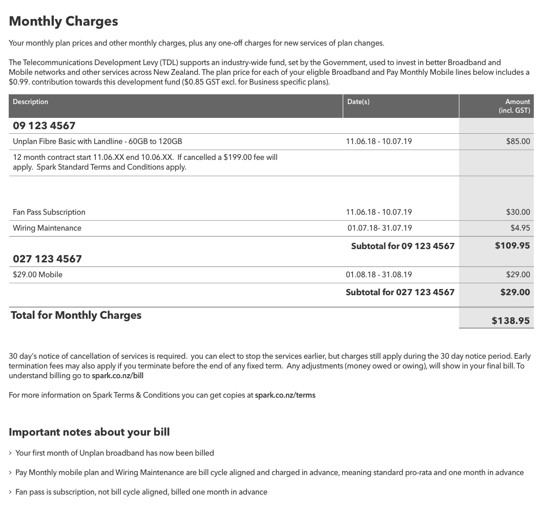 Understand my Spark bill | Spark NZ