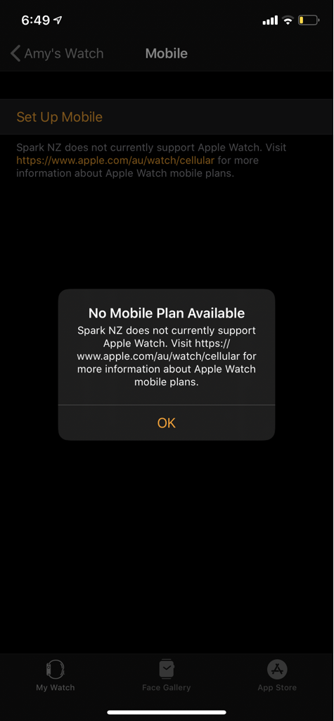 No mobile plan available
