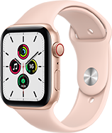 Pink Apple watch SE 2020, compare specs with the Apple watch Series 6. Choose the right watch for you.